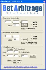 Bet calculator for free bets sporting arbitrage.